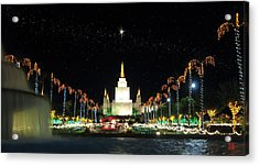 Christmas On Temple Hill Acrylic Print by Geoffrey C Lewis