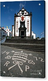 Church In The Azores Acrylic Print by Gaspar Avila
