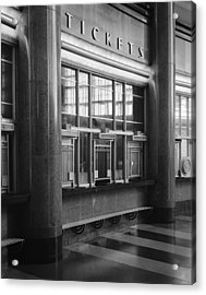 Cincinnati Union Terminal, Ticket Acrylic Print by Everett