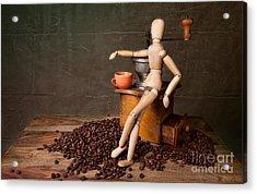 Coffee Break Acrylic Print by Nailia Schwarz