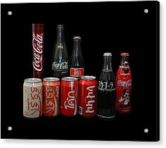 Coke From Around The World Acrylic Print by Rob Hans