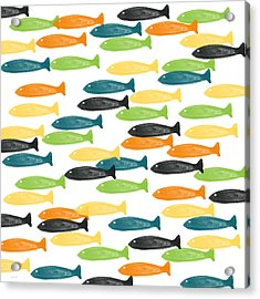 Colorful Fish  Acrylic Print by Linda Woods