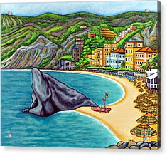 Colours Of Monterosso Acrylic Print by Lisa  Lorenz