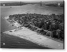 Coney Island Beach Acrylic Print by Susan Candelario