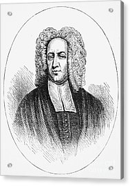 Cotton Mather (1663-1728) Acrylic Print by Granger