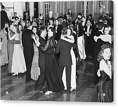 Couples Dancing To Big Band Acrylic Print by Underwood Archives