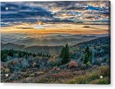 Cowee Sunset Acrylic Print by Donnie Smith