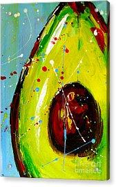 Crazy Avocado Acrylic Print by Patricia Awapara