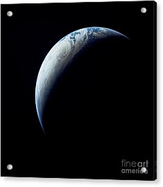 Crescent Earth Taken From The Apollo 4 Acrylic Print by Stocktrek Images