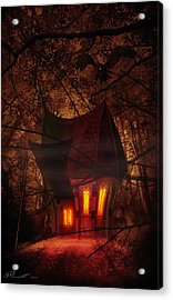 Crooked House Acrylic Print by Svetlana Sewell