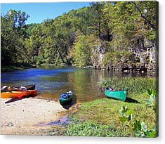 Current River 5 Acrylic Print by Marty Koch