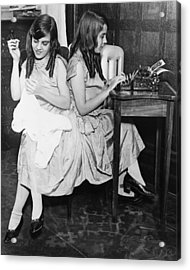 Daisy And Violet Hilton 1908-1969 Acrylic Print by Everett