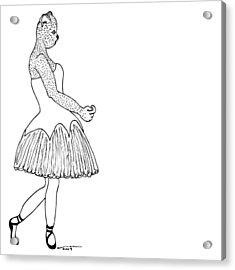Dancer Acrylic Print by Karl Addison