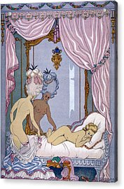 Dangerous Liaisons Acrylic Print by Georges Barbier