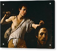 David With The Head Of Goliath Acrylic Print by Caravaggio