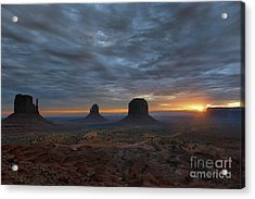 Dawn At Monument Valley Acrylic Print by Sandra Bronstein