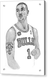 Derrick Rose Acrylic Print by Kiyana Smith