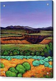Desert Gorge Acrylic Print by Johnathan Harris