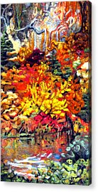 Detail Of Fall Acrylic Print by Kimberly Simon