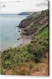 Devon Coastal View Acrylic Print by Patricia Hofmeester
