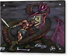 Dragonslayer Acrylic Print by Kevin Middleton