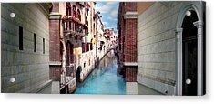 Dreaming Of Venice Panorama Acrylic Print by Az Jackson