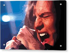Eddie Vedder Acrylic Print by Gordon Dean II