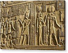 Egyptian Temple Art Acrylic Print by Michele Burgess