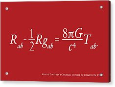 Einstein Theory Of Relativity Acrylic Print by Michael Tompsett