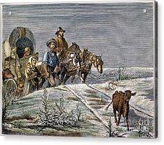 Emigrants, 1874 Acrylic Print by Granger