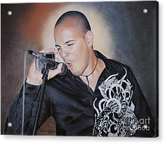 Emilio Singing His Heart Out Acrylic Print by Nanybel Salazar