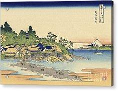 Enoshima In Sagami Province Acrylic Print by Katsushika Hokusai