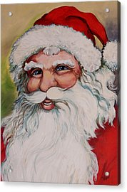 Father Christmas Acrylic Print by Vickie Warner