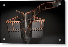 Film Strip Shooting Star Curled Acrylic Print by Allan Swart
