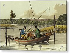 Fishing In A Punt  Acrylic Print by Henry Thomas Alken