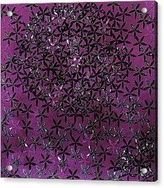 Flower Shower Acrylic Print by Bonnie Bruno