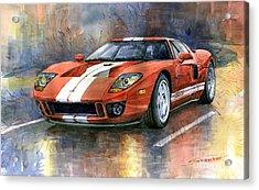 Ford Gt 40 2006  Acrylic Print by Yuriy  Shevchuk