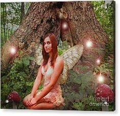 Forest Fairy Acrylic Print by Patricia Ridlon
