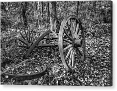 Forgotten Wagon Acrylic Print by Tom Mc Nemar