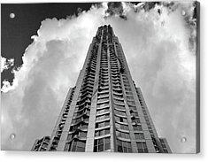 Frank Gehry High Rise Lower Manhattan Acrylic Print by Robert Ullmann