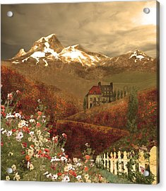 Full Mythical Landscape Acrylic Print by Jeff Burgess