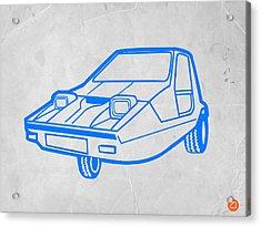 Funny Car Acrylic Print by Naxart Studio