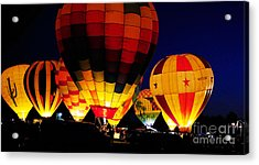 Glowing Acrylic Print by Clayton Bruster