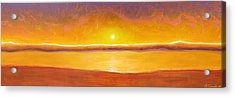Gold Sunset Acrylic Print by Jaison Cianelli