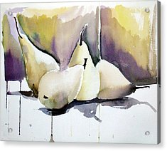 Graceful Pears Acrylic Print by Mindy Newman