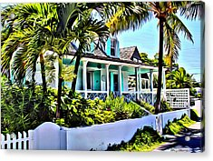 Harbour Island Home Acrylic Print by Anthony C Chen