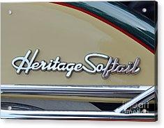 Harley-davidson Heritage Softail Badge Acrylic Print by George Atsametakis