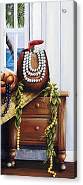 Hawaiian Still Life Panel Acrylic Print by Sandra Blazel - Printscapes