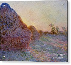 Haystacks Acrylic Print by Claude Monet