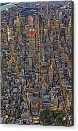 High Over Manhattan Acrylic Print by Susan Candelario